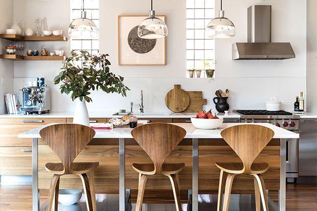 Une cuisine moderne et conviviale Chaleureuse, Texture et Montréal