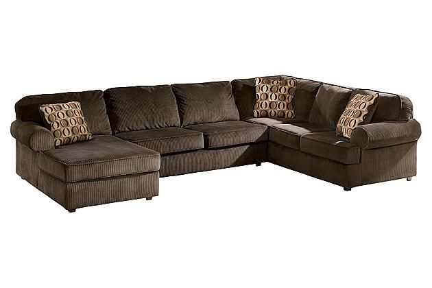 Chocolate Vista 3 Piece Sectional View 2 Our Place 3 Piece