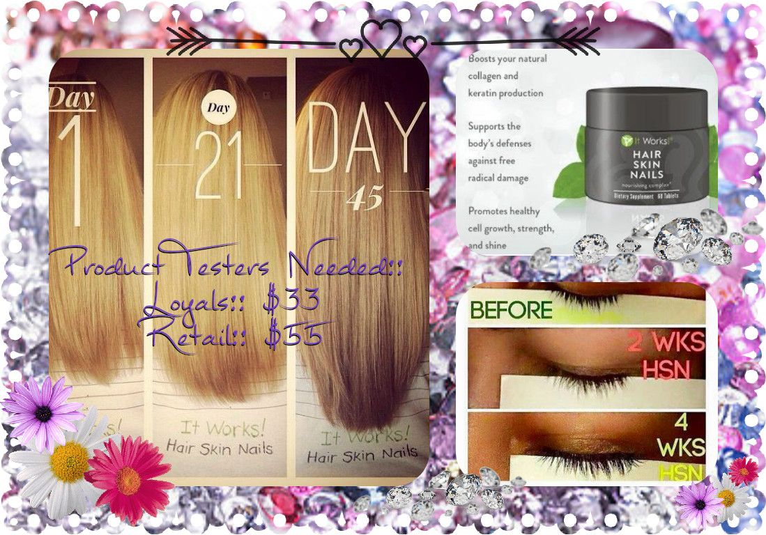 Hair, skin and nail product testers needed!! Do you want to grow your hair out?@!? #Hair #itWorks #GrowHair #LongHair #ThickerHair #Nails #deals