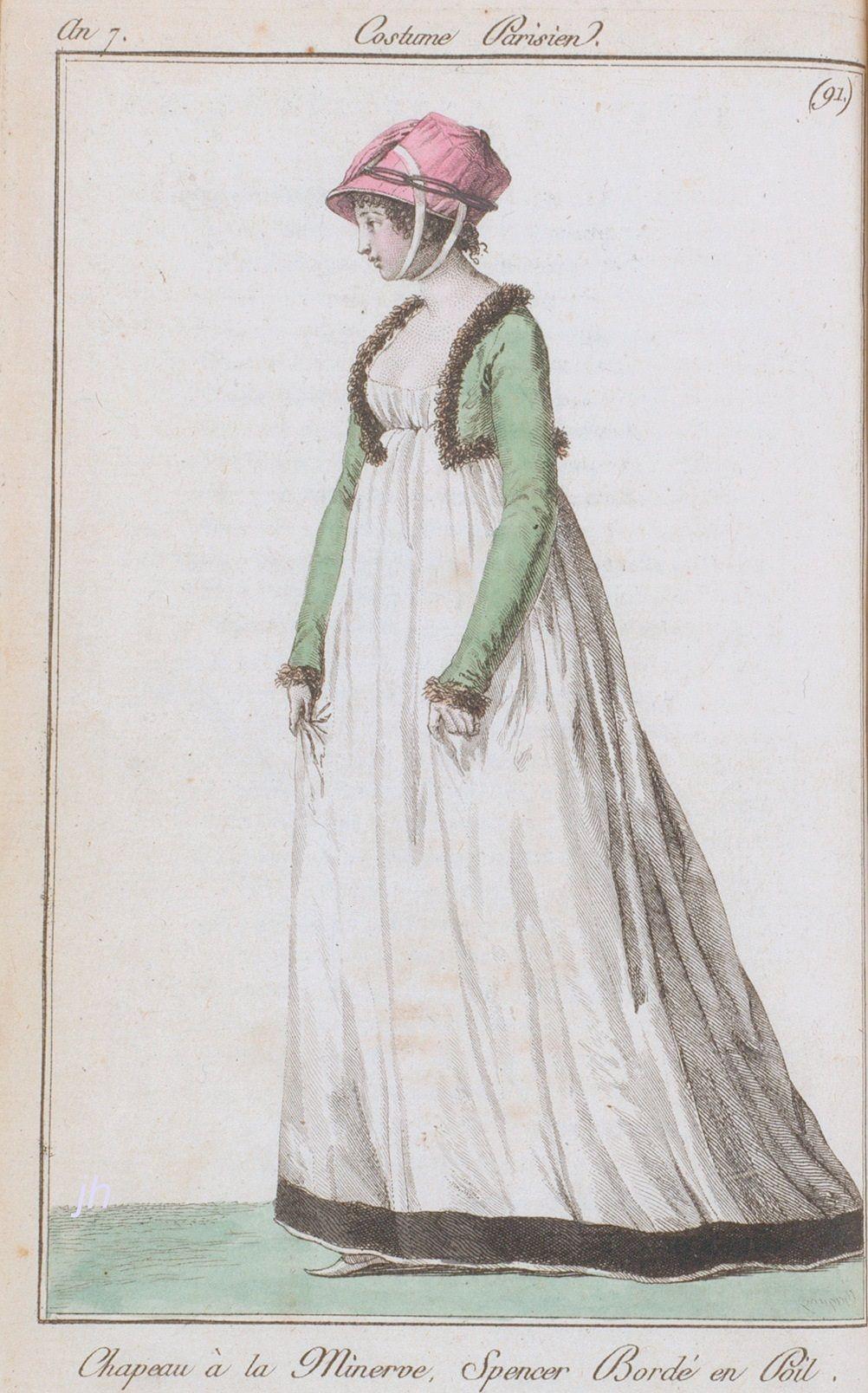 1799. Costume Parisien 91. Fur edged spencer