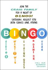 Printable Bingo Party Invitations Google Search