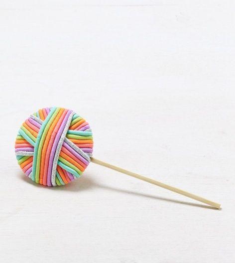 Hair tie lollipop!