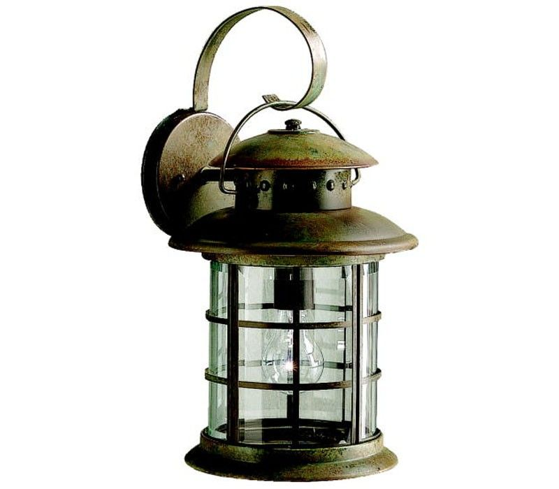 Kichler 9761rst Rustic Solid Brass Outdoor Wall Sconce