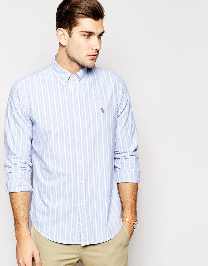 Polo Ralph Lauren Shirt in Regular Fit Oxford Stripe