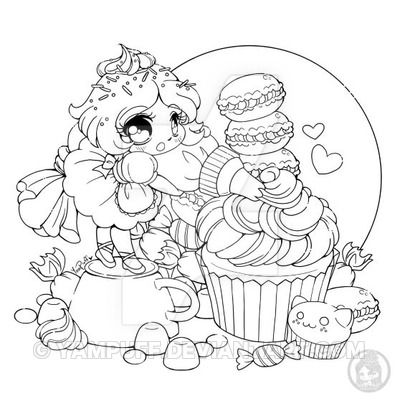 The Frosting Fairy July Coloring Contest By Yampuff Chibi