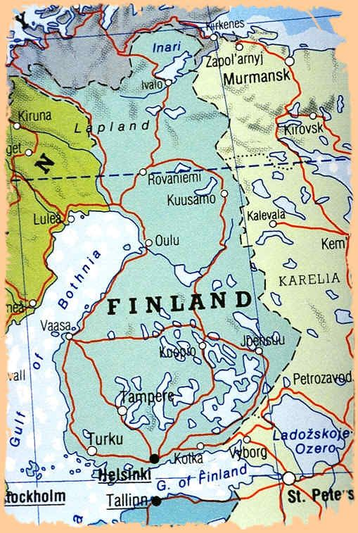 Finland Map Szukaj W Google Finland Rovaniemi