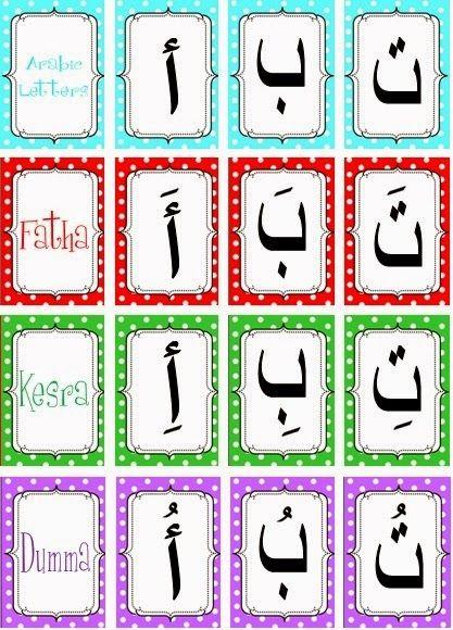 Fun Free Arabic Alphabet Cards With Harakat Arabic Alphabet Learn Arabic Alphabet Alphabet Cards