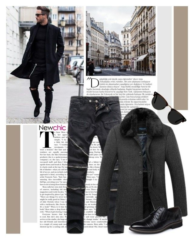 """""""Newchic 5.14"""" by emilypondng ❤ liked on Polyvore featuring Balmain, Ace, men's fashion, menswear and men_emilypondng"""