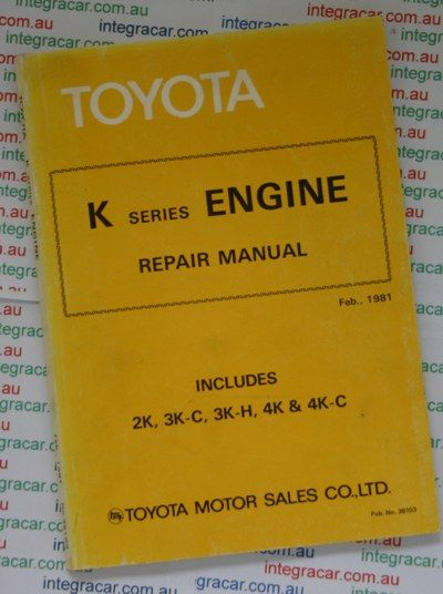 toyota k series engine repair manual books worth reading rh pinterest com 1953 Toyota Engine with R Toyota 4K