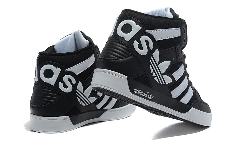 Gallery For Adidas Shoes For Girls High Tops Black And White ...