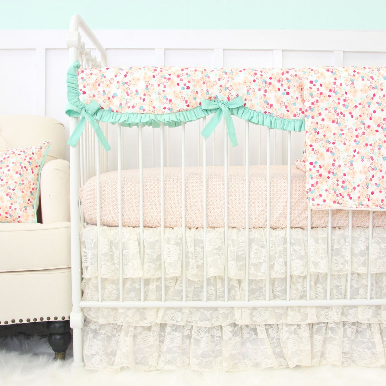 Floral Nursery Bedding Awesome Gorgeous Vintage Lace Baby Bedding For A Sweet Baby Girl Nursery Design Inspiration