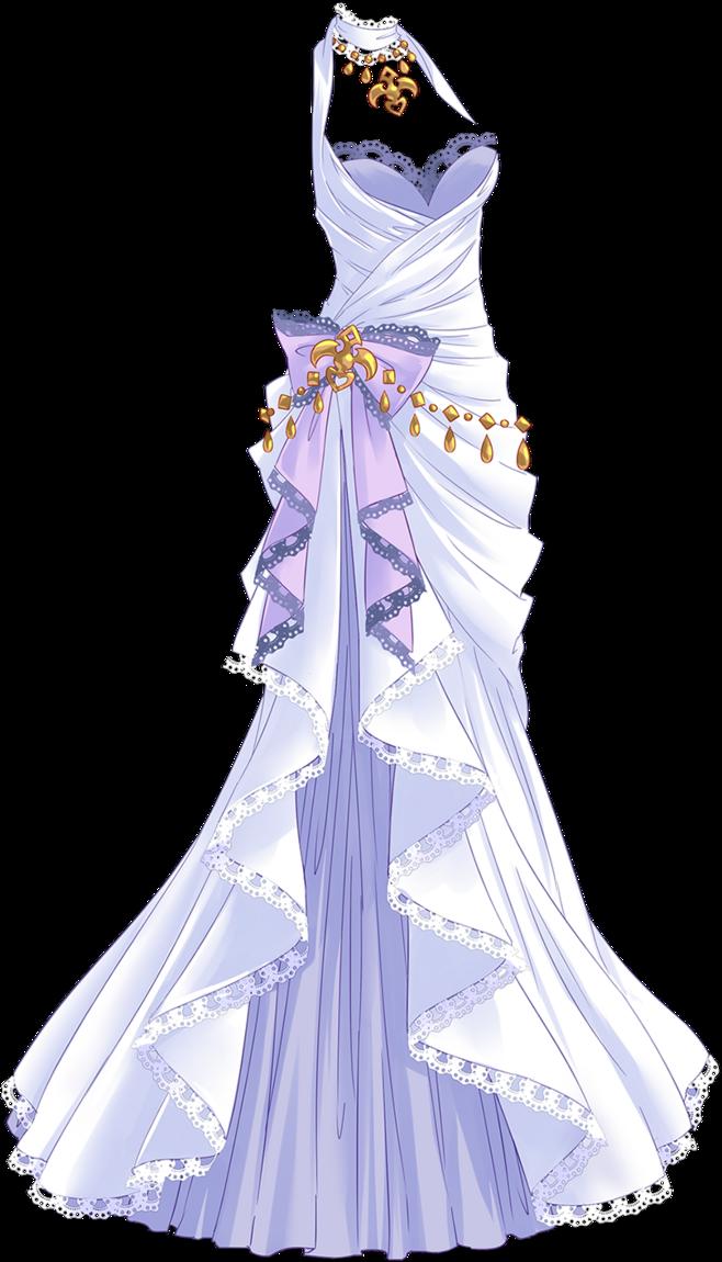 Anime Girl In A Purple Dress