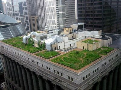 The Windy City Came In First Place For Its Cool Architecture But The Greenest View Of The Buildings May Green Roof Technology Green Roof Architecture