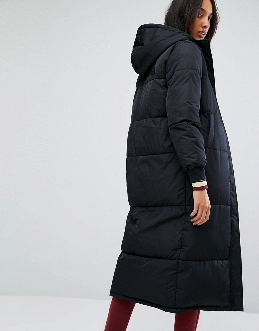 4d8f343ec05a4 Fila Tall Padded Coat With Hood And Logo Detail - Black | My girls ...