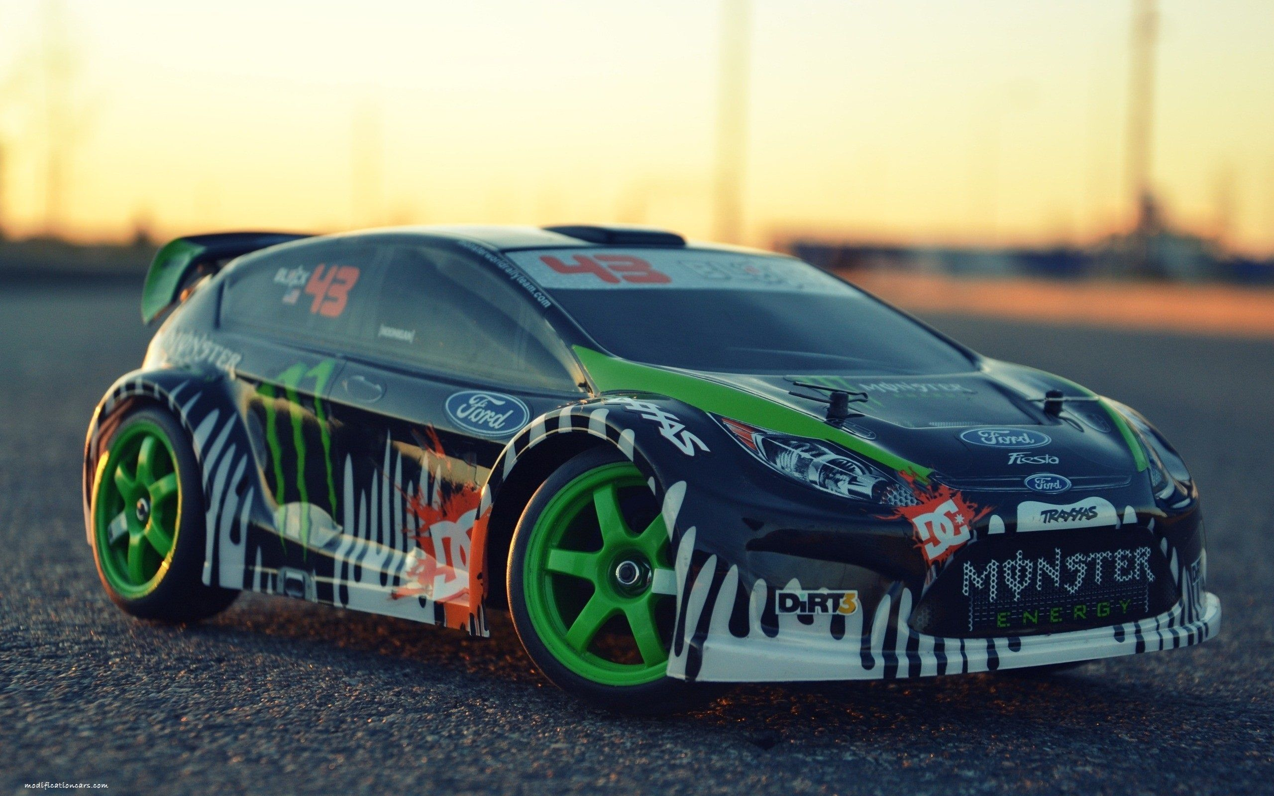 Modified Ford Fiesta Shoes Toy Cars Hd Wallpaper Remote Control