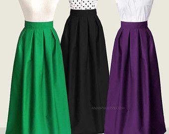 16 colors floor-length maxi skirt with pockets custom by Ananya ...