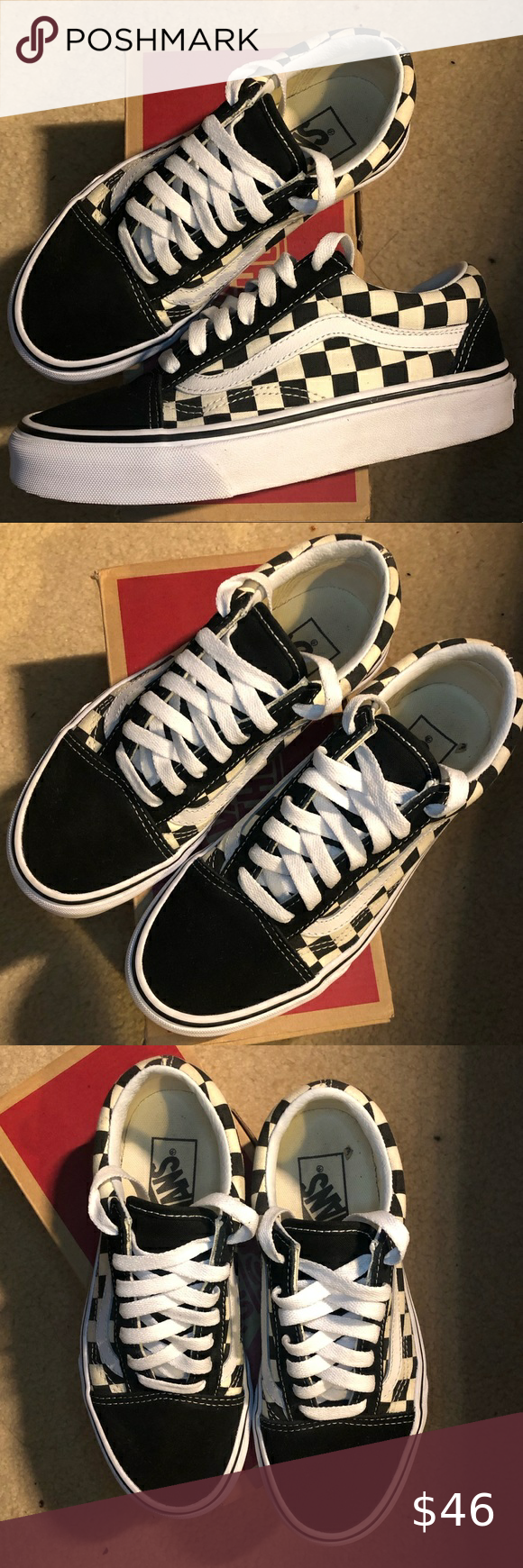 youth size 4 checkered vans