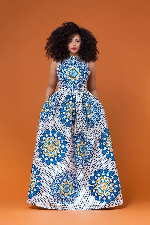 Dagana African Print Maxi Dress | Urban Ashanti | Pinterest ...