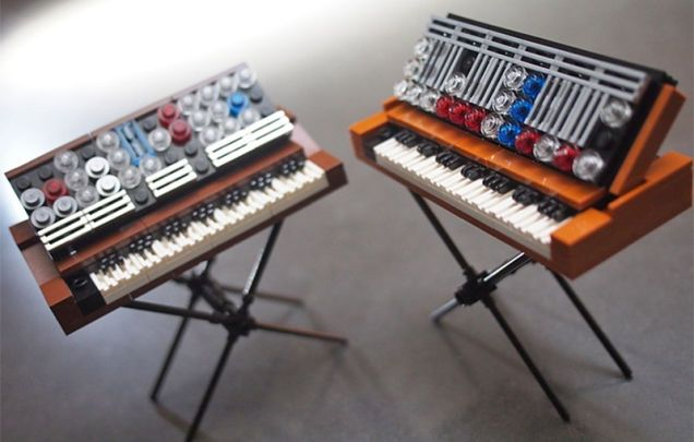 Go Vote So These Tiny Lego Minimoog Synthesizers Become Real Sets
