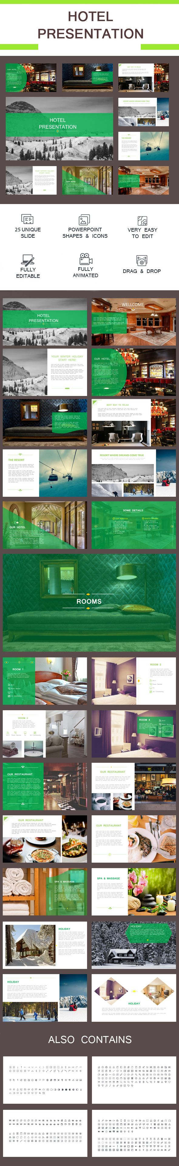 Hotel Presentation Pinterest Business Powerpoint Templates - Best of hotel presentation template ideas