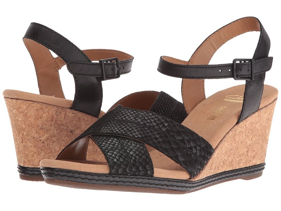 7b055021ab5 CLARKS CLARKS - HELIO LATITUDE (BLACK LEATHER) WOMEN S SANDALS.  clarks   shoes