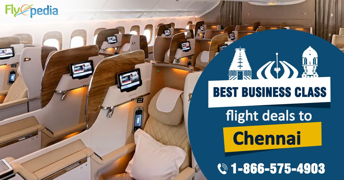 Fly high in luxury at lowest airfare, get amazing #businessclassflights to #Chennai with #Flyopedia. Contact us for flight booking!   For more information call us at- 1-866-575-4903 (Toll-Free).  #businessclass #luxurytravel #FlightsToChennai #cheapbusinessclassflights #traveling #travelers #businesstravel #deals #travel