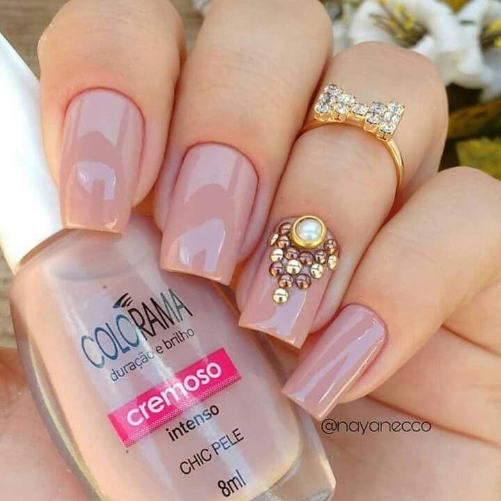 unha postiça nails in 2019 perfect nails, nude nails, nail manicureunha postiça