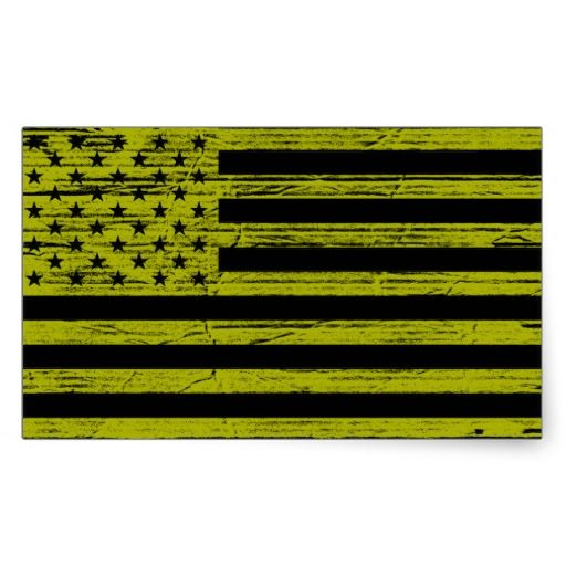 Black Yellow American Usa Flag Grunge Stickers Zazzle Com Black N Yellow Print Stickers Flag