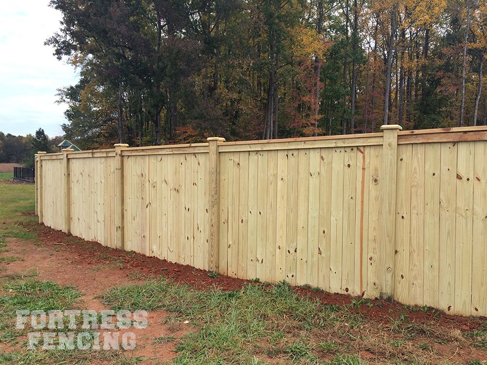 Residential Wood Fencing Fortress Fencing Wood Fence Fence Design Privacy Fence Designs