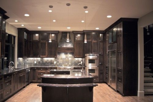 Need a big kitchen like this our nest pinterest big for Ak kitchen cabinets calgary
