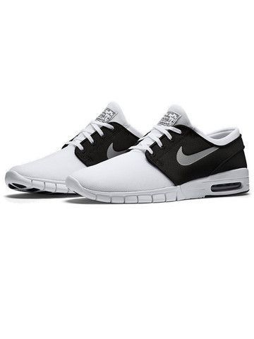 ee719368983f Nike Stefan Janoski Max White  Metallic Silver Black