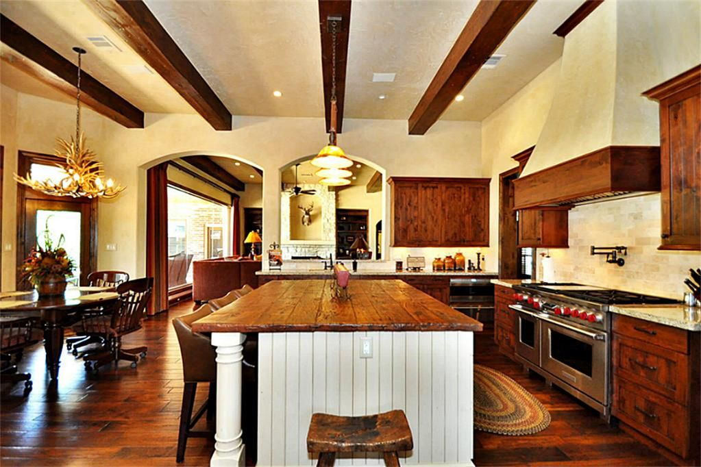 Kitchen Has Been Completely Redone With The Highest Quality Granite And Bentwood Knotty Alder Cabinetry Throughout