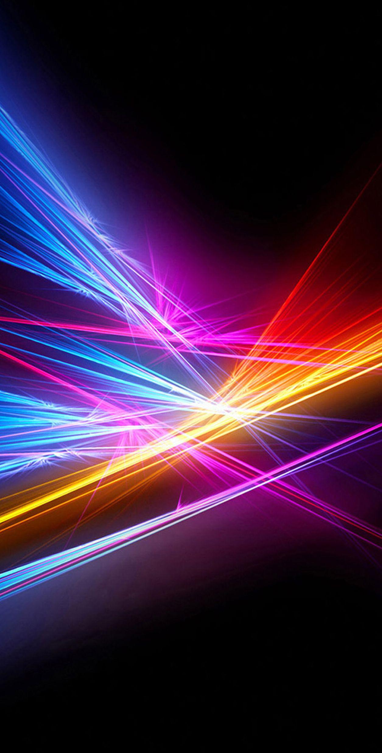 Blue, red, purple, lights, neon, minimal, abstract