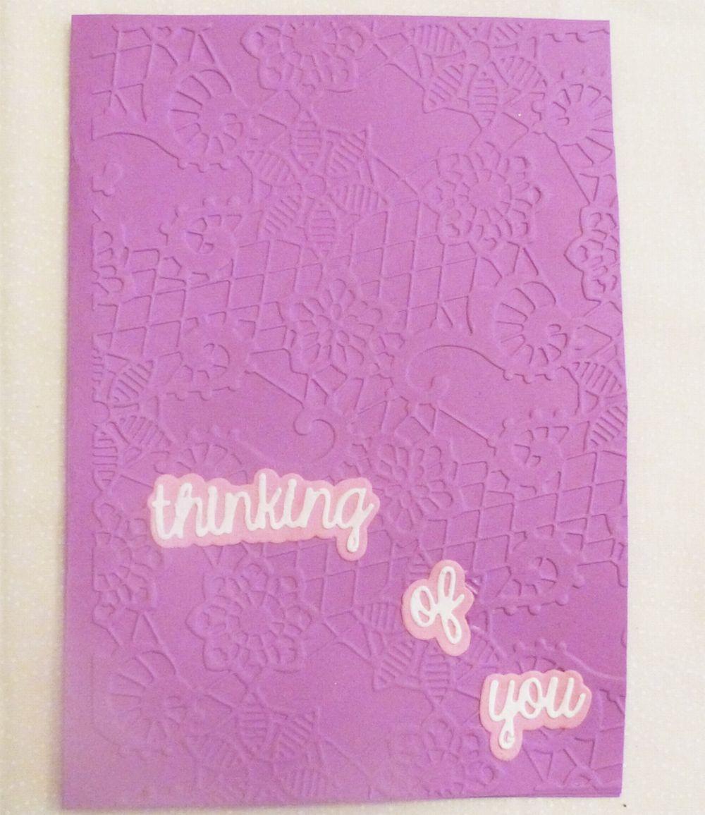 Thinkingofyouembossedhandmadegreetingcardusamade Cards