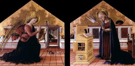 Bartolomeo Caporali - Annunciazione - Galleria Nazionale dell'Umbria, Perugia