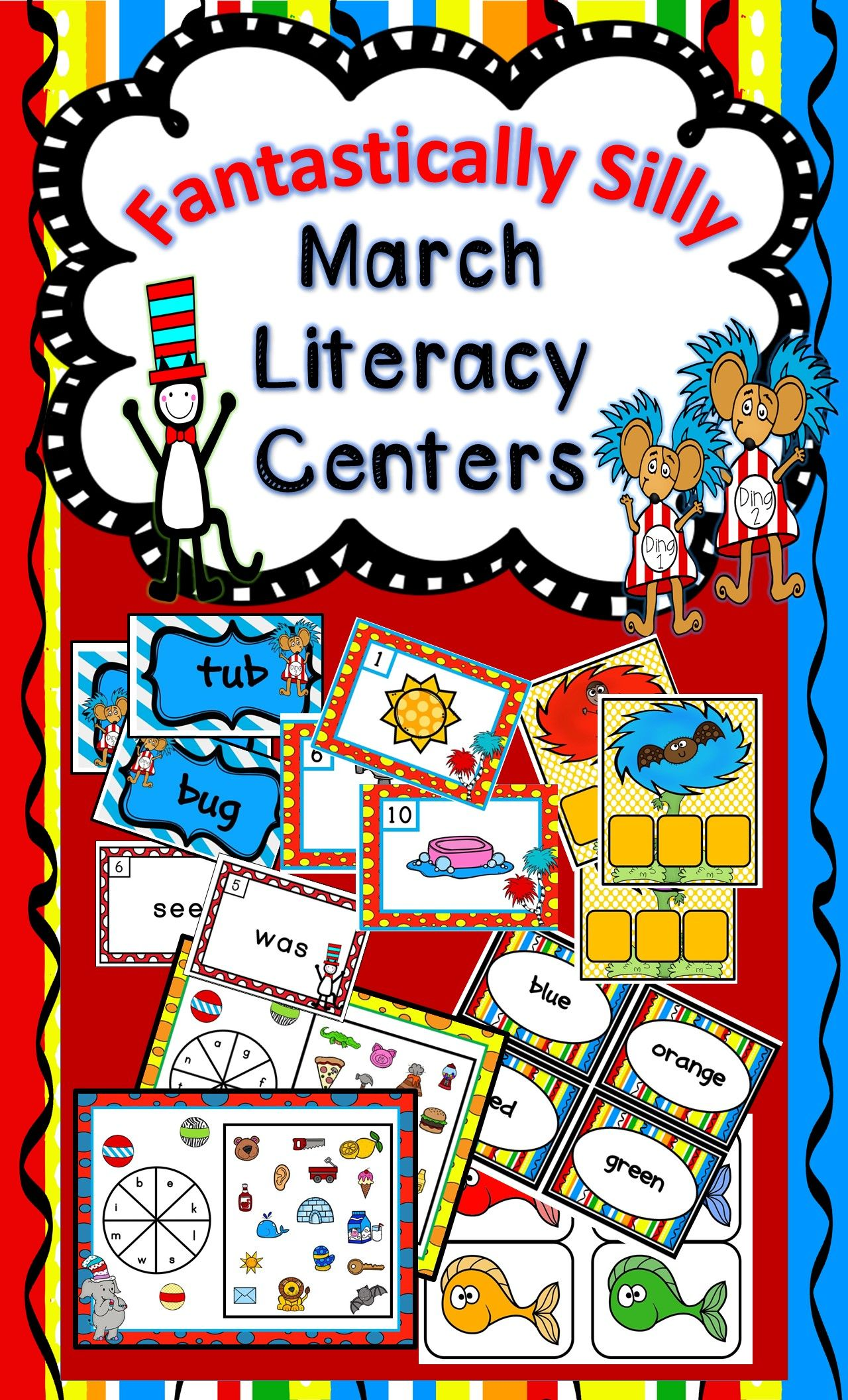 Fantastically Silly March Literacy Centers And Work