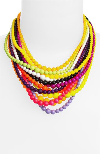 multi-strand necklace from the counter culture collection by tom binns. like wearing a sunrise.