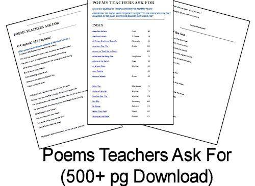 Poems Teachers Ask For (500+ pg Download) #homeschool #