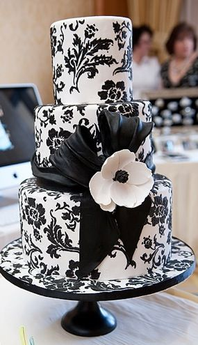 From Sugarland Bakery In Chapel Hill NC Damask Wedding CakesWhite