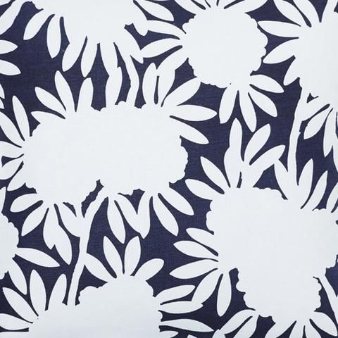 Navy Silhouette Fabric by Caitlin Wilson.