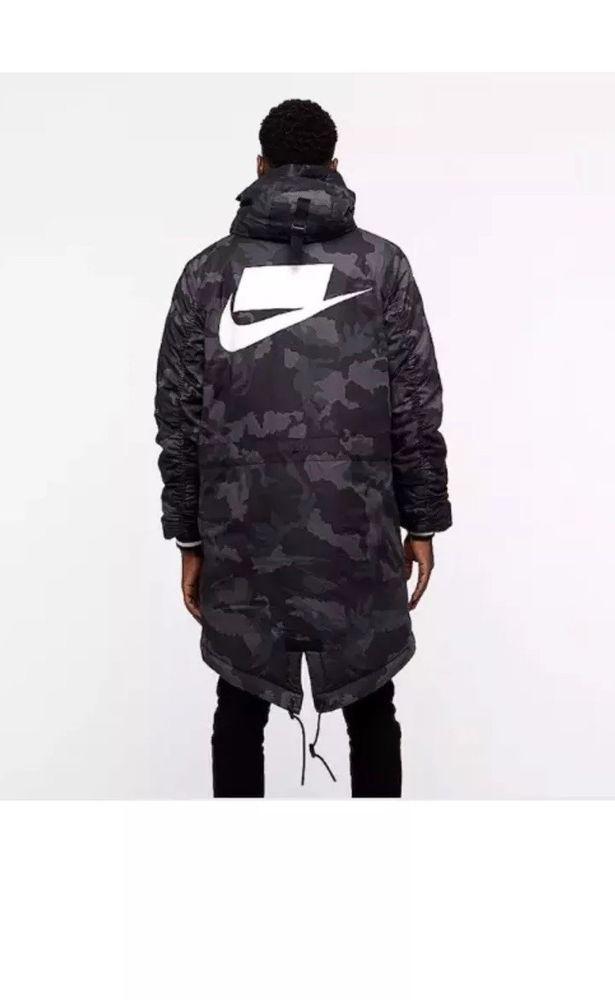 1f2668ada65c Nike Sportswear NSW Parka Obsidian Camo AA8859-475 Loose Fit size M  Nike   ActivewearLongSleeve