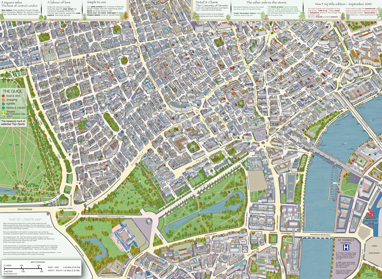 Main Central London 3d Map Check It Out London Map London Places London