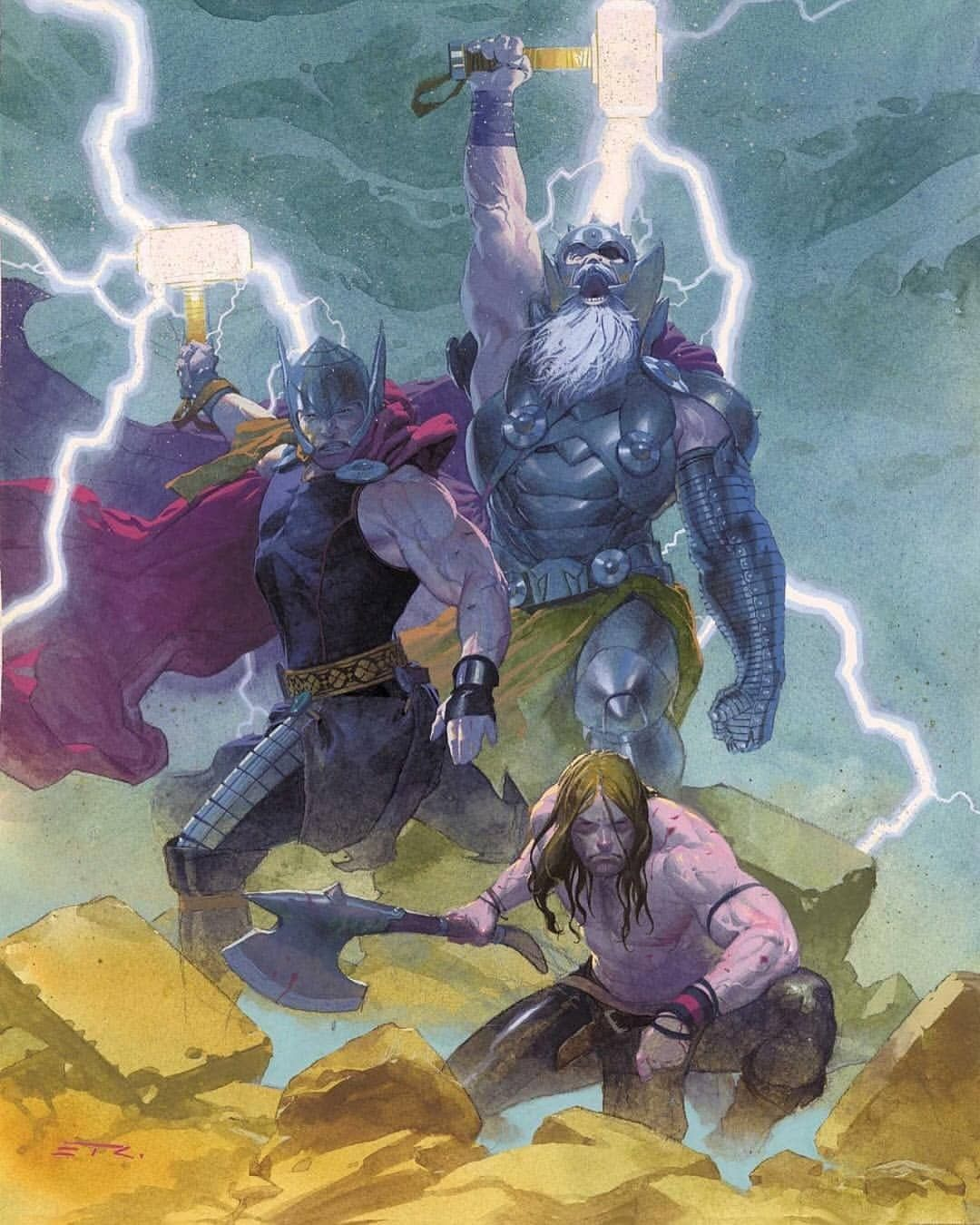 Choose The Best One From 1 To 10 By Esad Ribic Wolverine Logan Thor Captainamerica Blackpanther Ironman D Marvel Comics Art Thor Comic Superhero Art