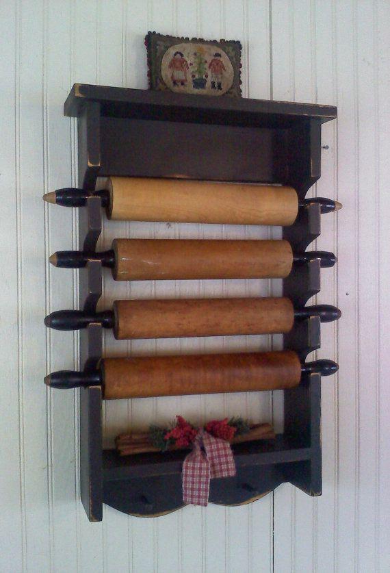 Rolling Pin Display Rolling Pin Display Primitive Kitchen Vintage Kitchen Utensils