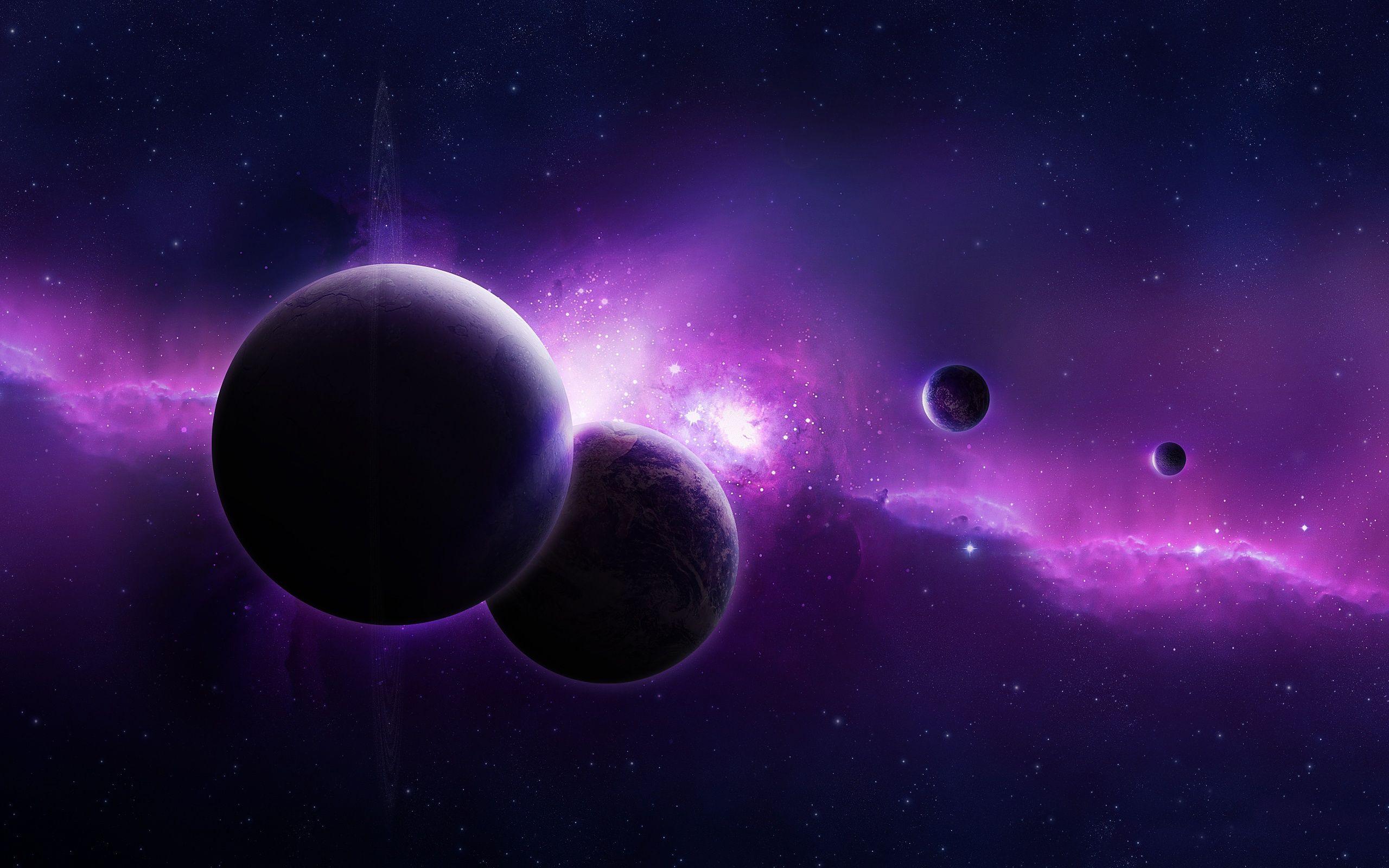 Обои atmosphere, violet, colors. Космос foto 17