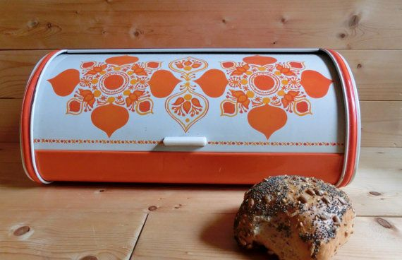 Anita Wangel  IRA Denmark Brotkasten orange von Printenkind auf Etsy, €50.00