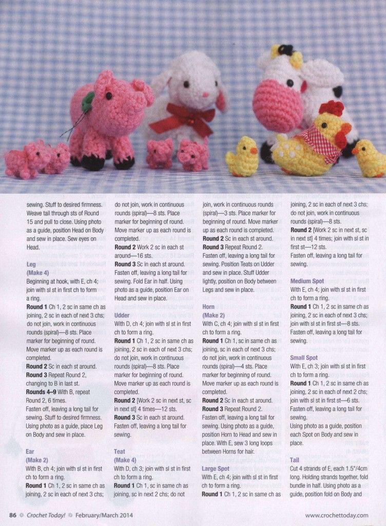 Crochet farm animals amigurumi | crochet Projects and inspiration ...