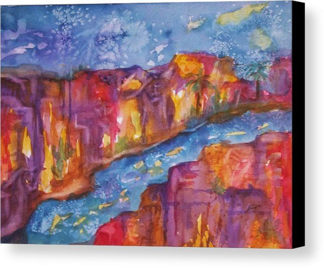 Canyon Of Old Souls Canvas Print Fine Art America