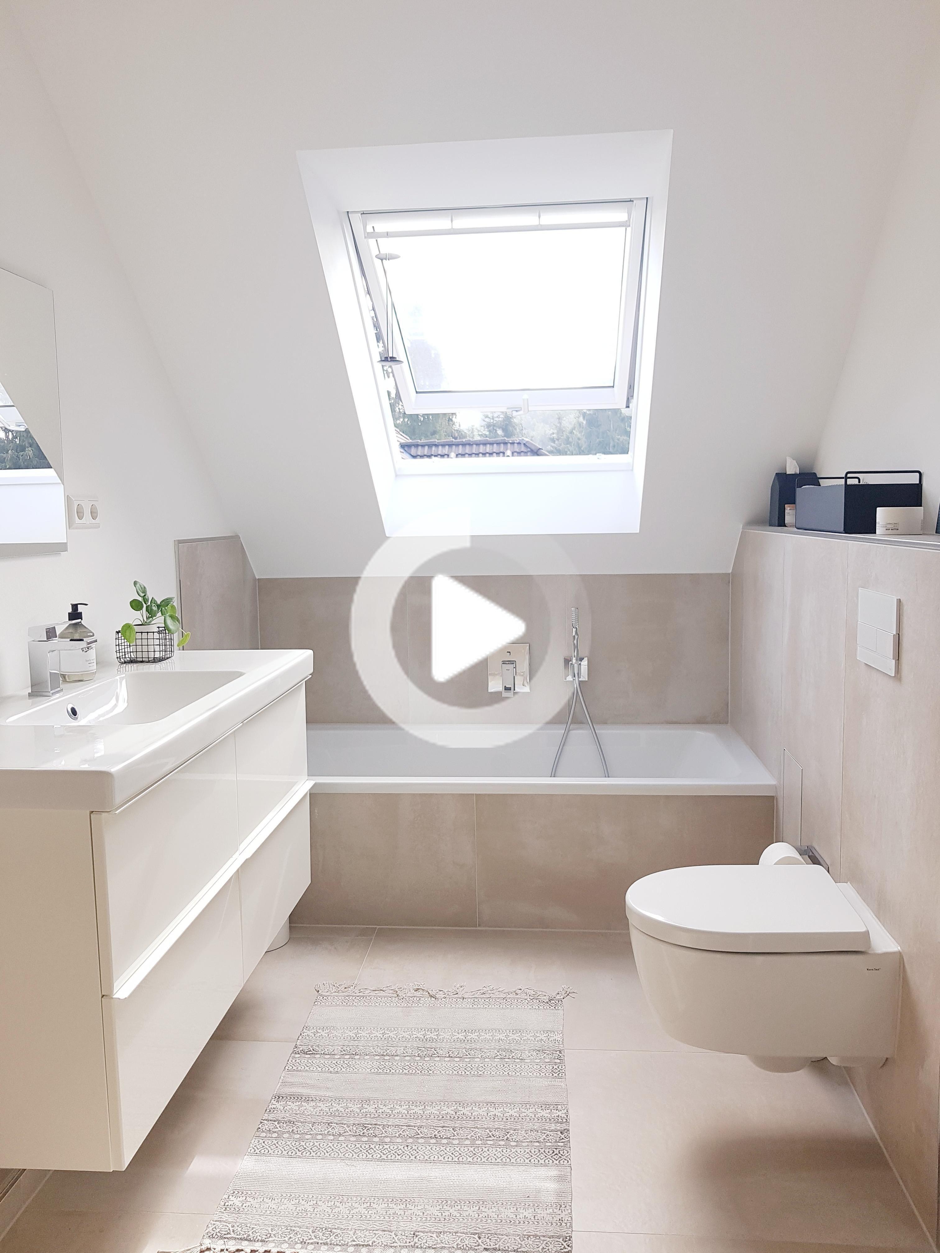 Unser Renoviertes Badezimmer Badezimmer Bathroomde Badezimmer Bathroomde Dach In 2020 Neues Badezimmer Badezimmer Badezimmer Dachgeschoss