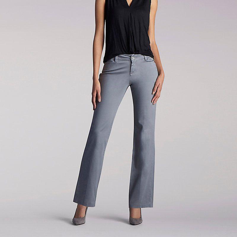 ba558446 Lee Women's Curvy Fit Maxwell Trouser - Modern Series Pants (Size 14 x M)